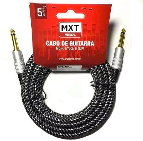 CABO DE GUITARRA P10 - MXT 5mm - 5 metros