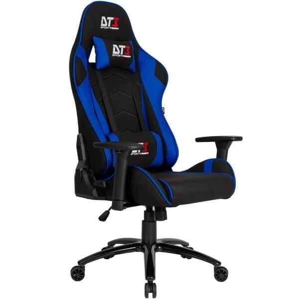 Cadeira Gamer Azul Escritório Reclinável 180º DT3sports Mizano