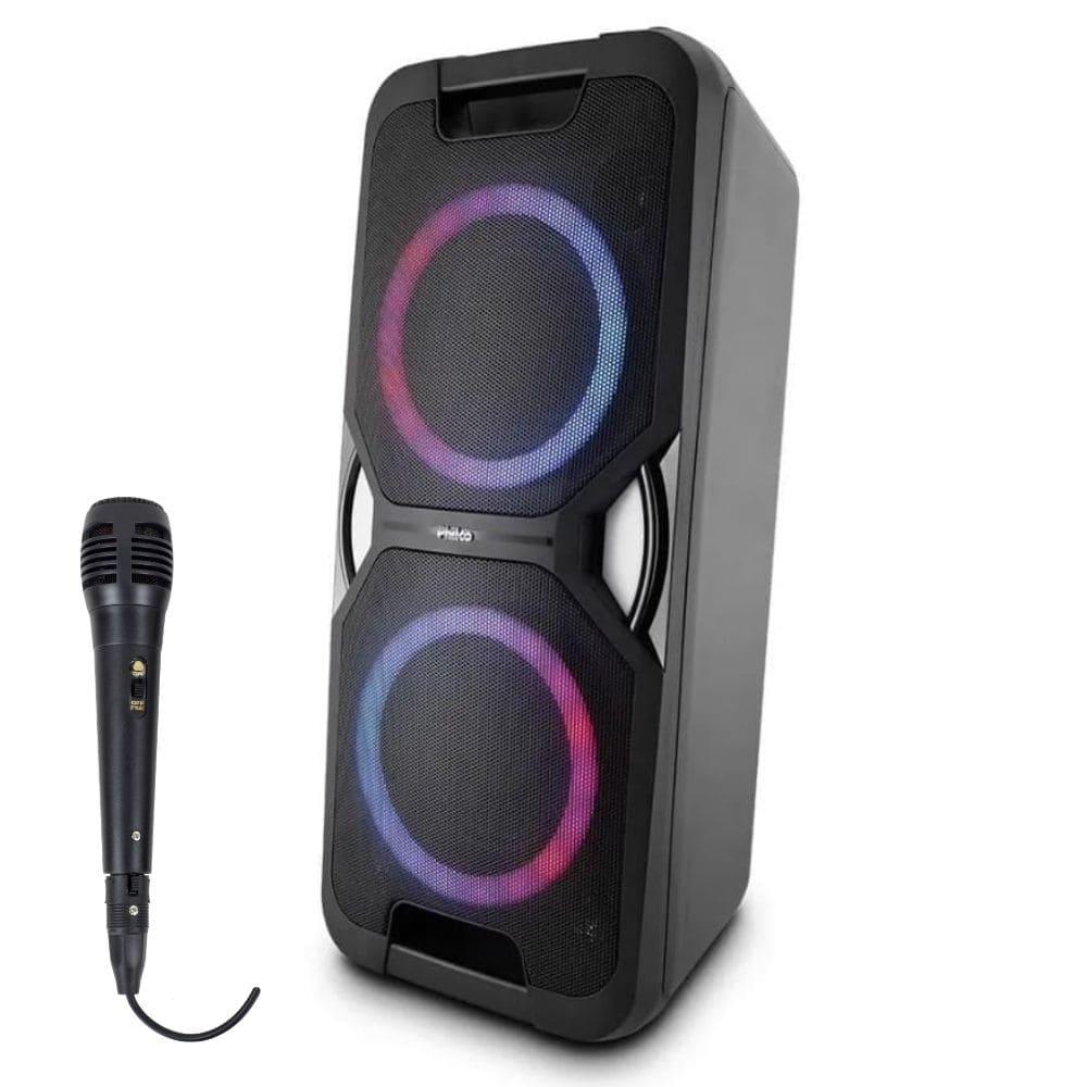 Caixa Acústica Philco PCX 5600 Potente LED USB 01 Microfone