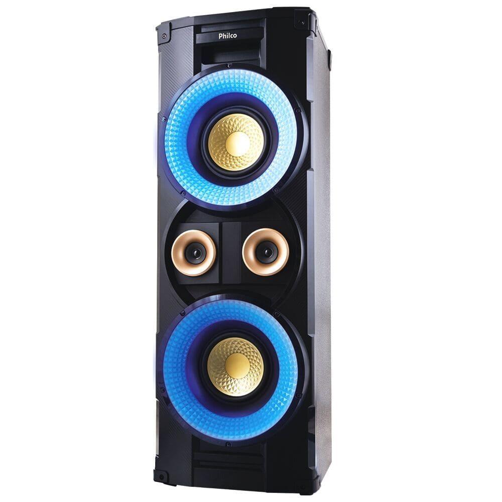 Caixa Acústica Philco PHT10000 com Bluetooth Rádio FM e Entrada USB - 1000w RMS