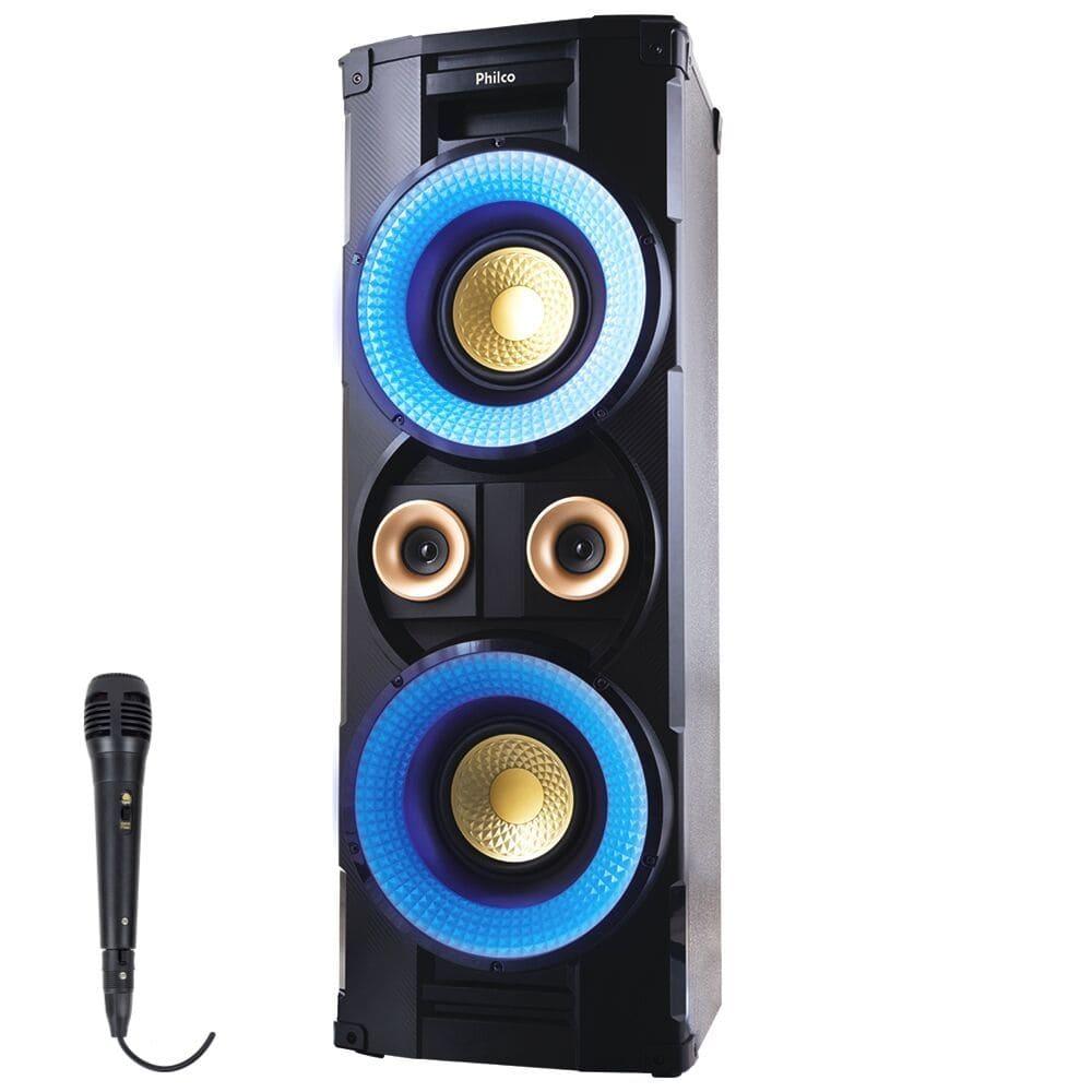 Caixa Acústica Philco PHT10000 com Bluetooth Rádio FM e Entrada USB - 1000w RMS, Microfone com fio