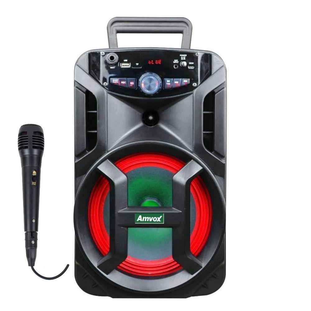 Caixa Amplificada Amvox ACA 188 GIGANTE - 180w 1 Microfone