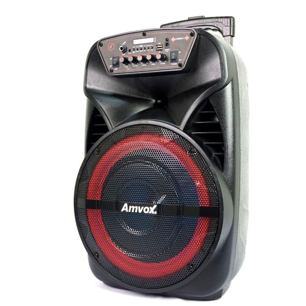 Caixa Amplificada Amvox ACA 280 BLACK - 280w Bluetooth, USB, Bateria Interna
