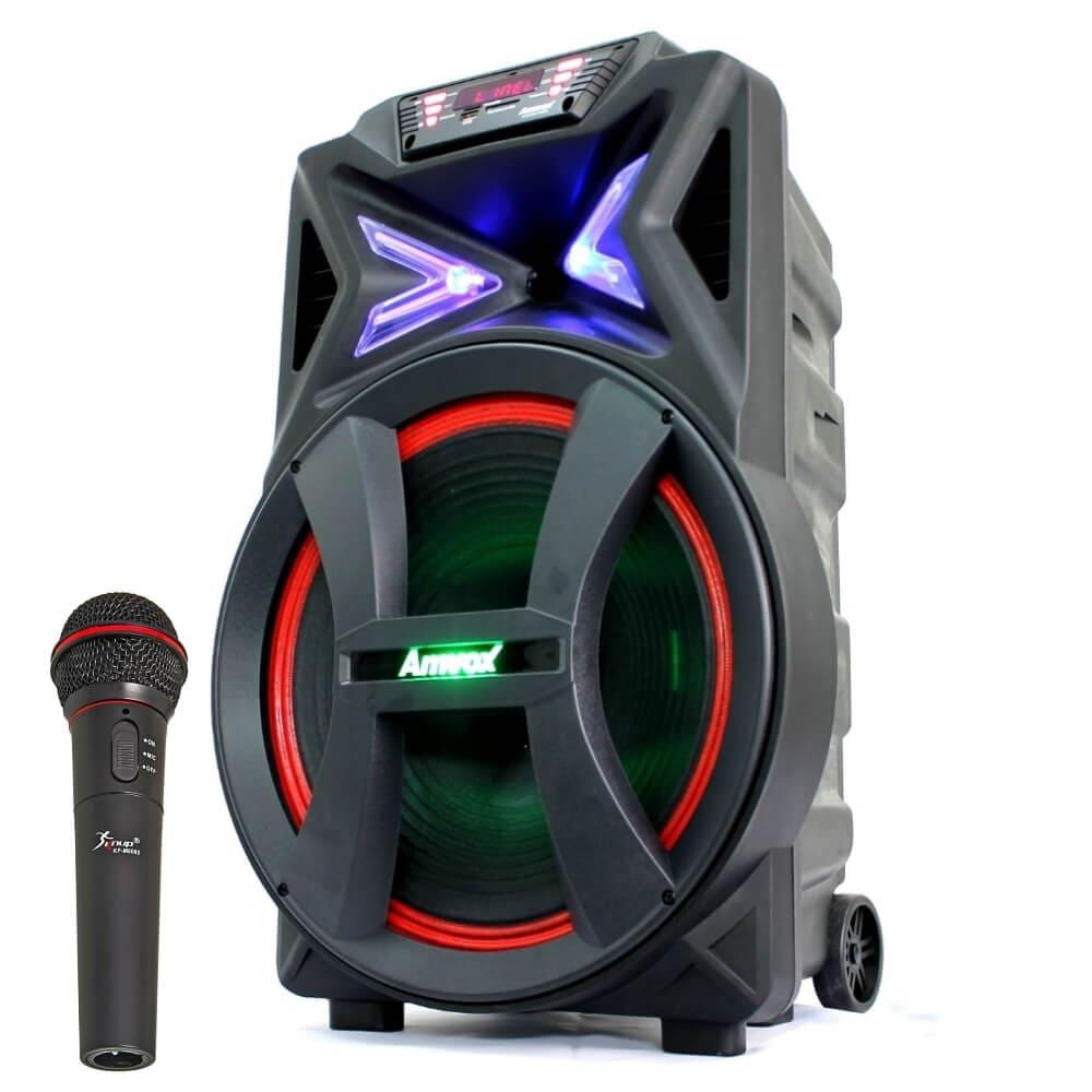 Caixa Amplificada Amvox ACA 501 - Bluetooth USB FM Auxiliar P10 Microfone