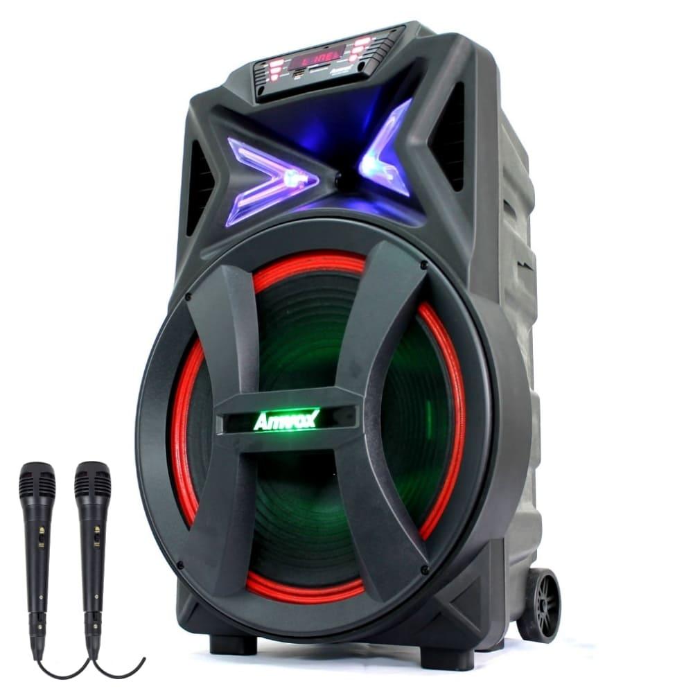 Caixa Amplificada Amvox ACA 501 New X - 500w com 2 Microfones