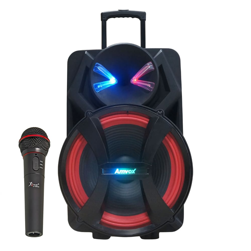Caixa Amplificada Amvox ACA 900 X Dezoitão - 900w c/ Microfone