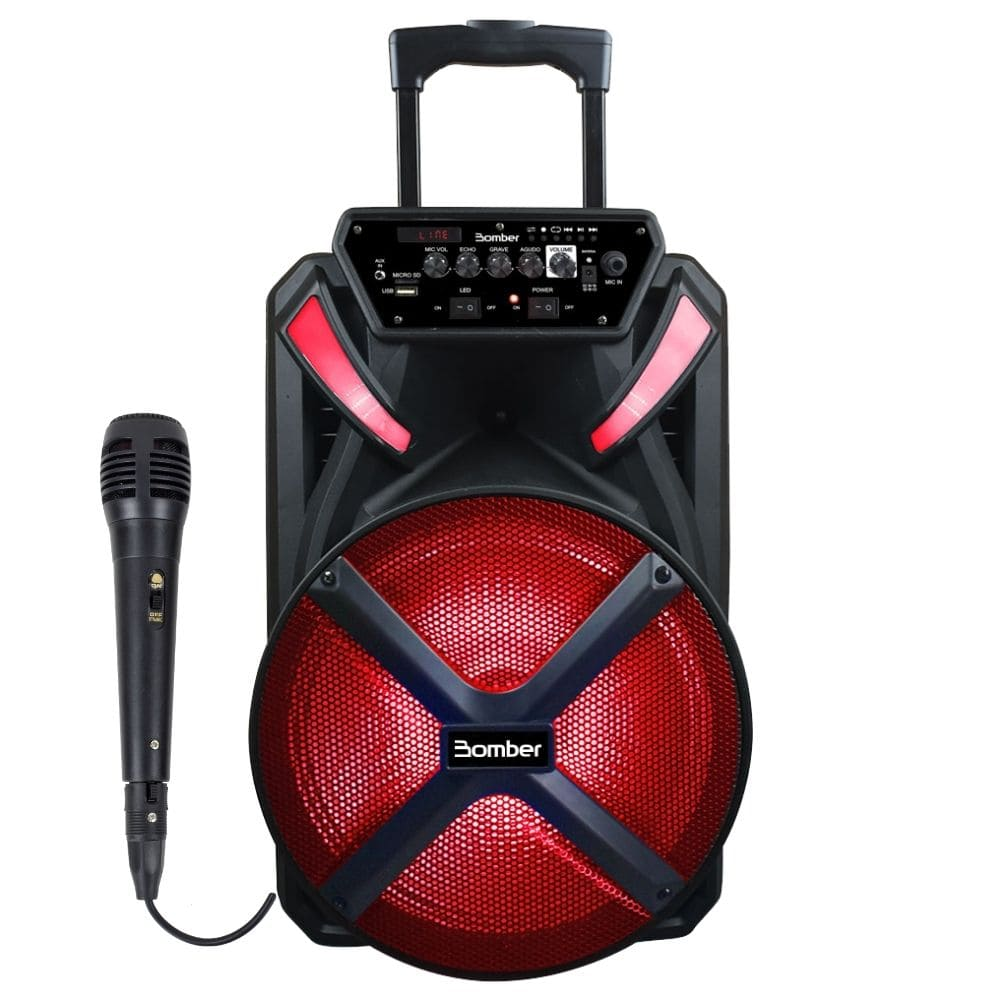 Caixa Amplificada Ativa Bomber Papao 500 Bluetooth com Microfone
