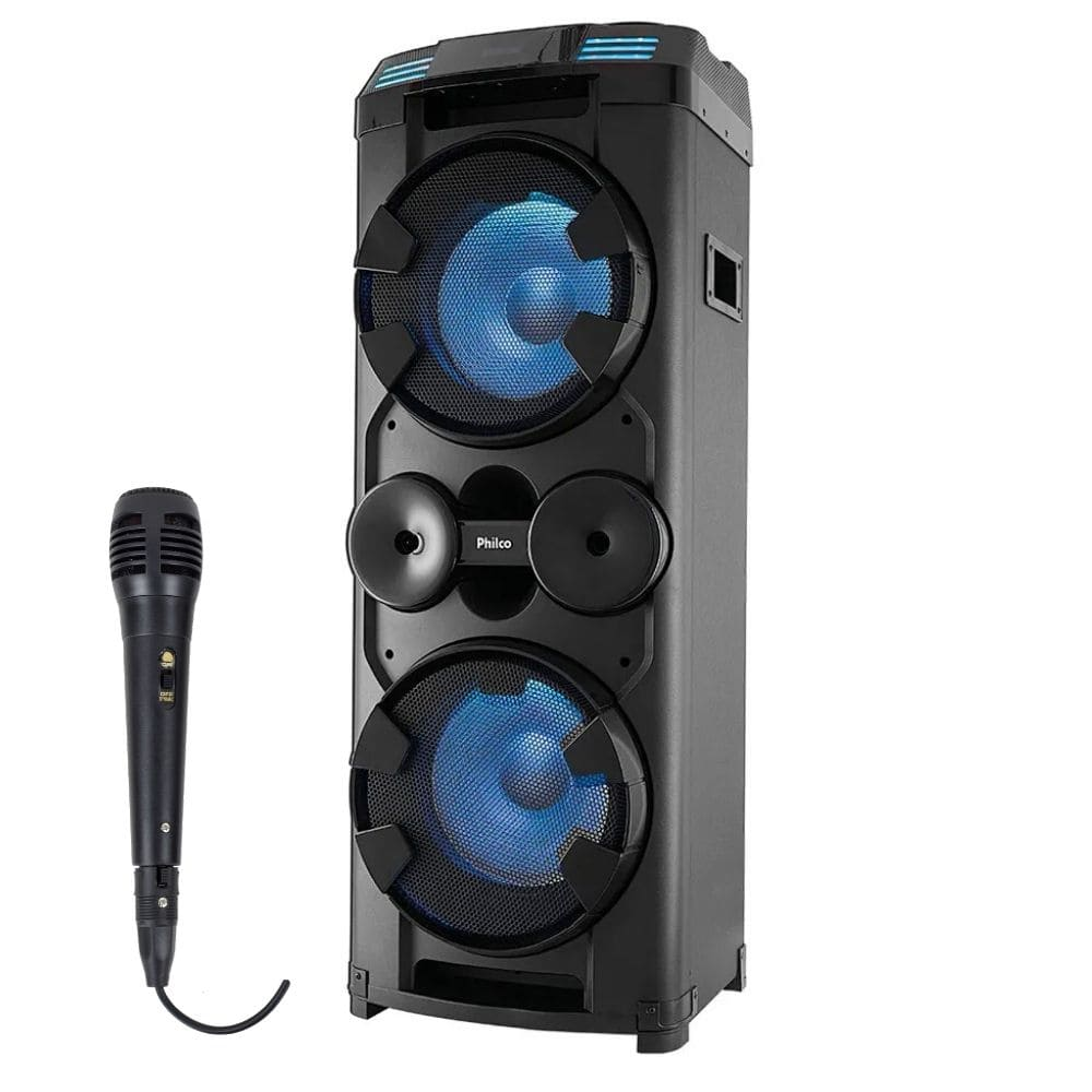 Caixa Amplificada Bluetooth Philco PCX20000 - 1800w RMS C/Microfone