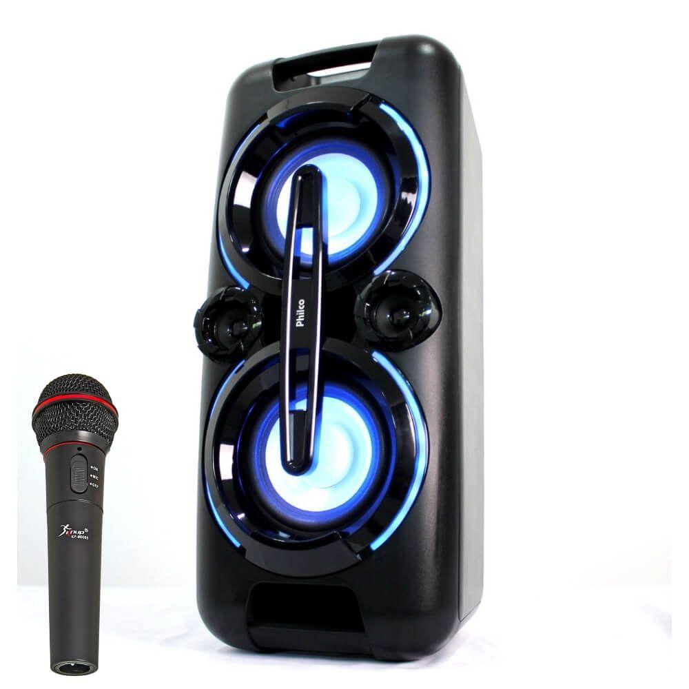 Caixa Amplificada Bluetooth Philco PHT5000 150w RMS C/microfone