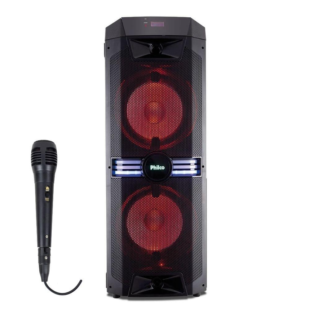 Caixa Amplificada Philco PCX18000 ExBass 1700w com Microfone