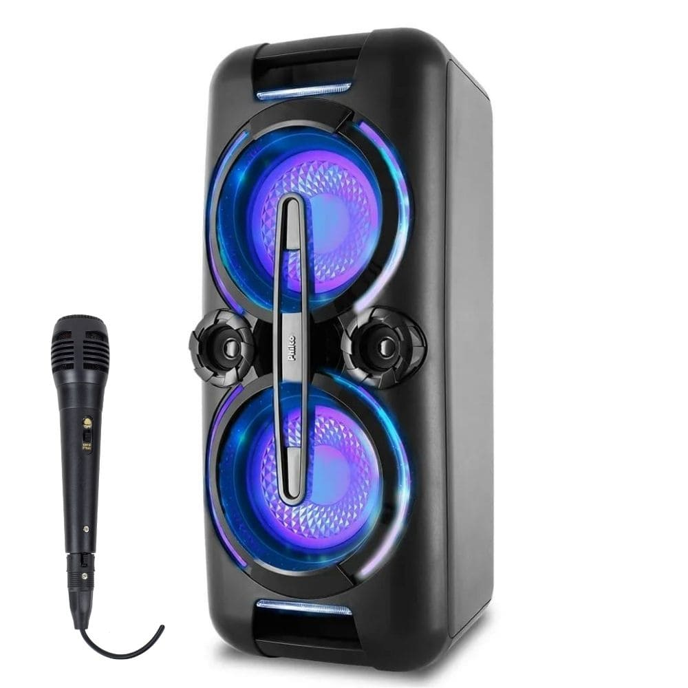 Caixa Amplificada Philco PCX 8000 - 500w Bluetooth C/ Microfone