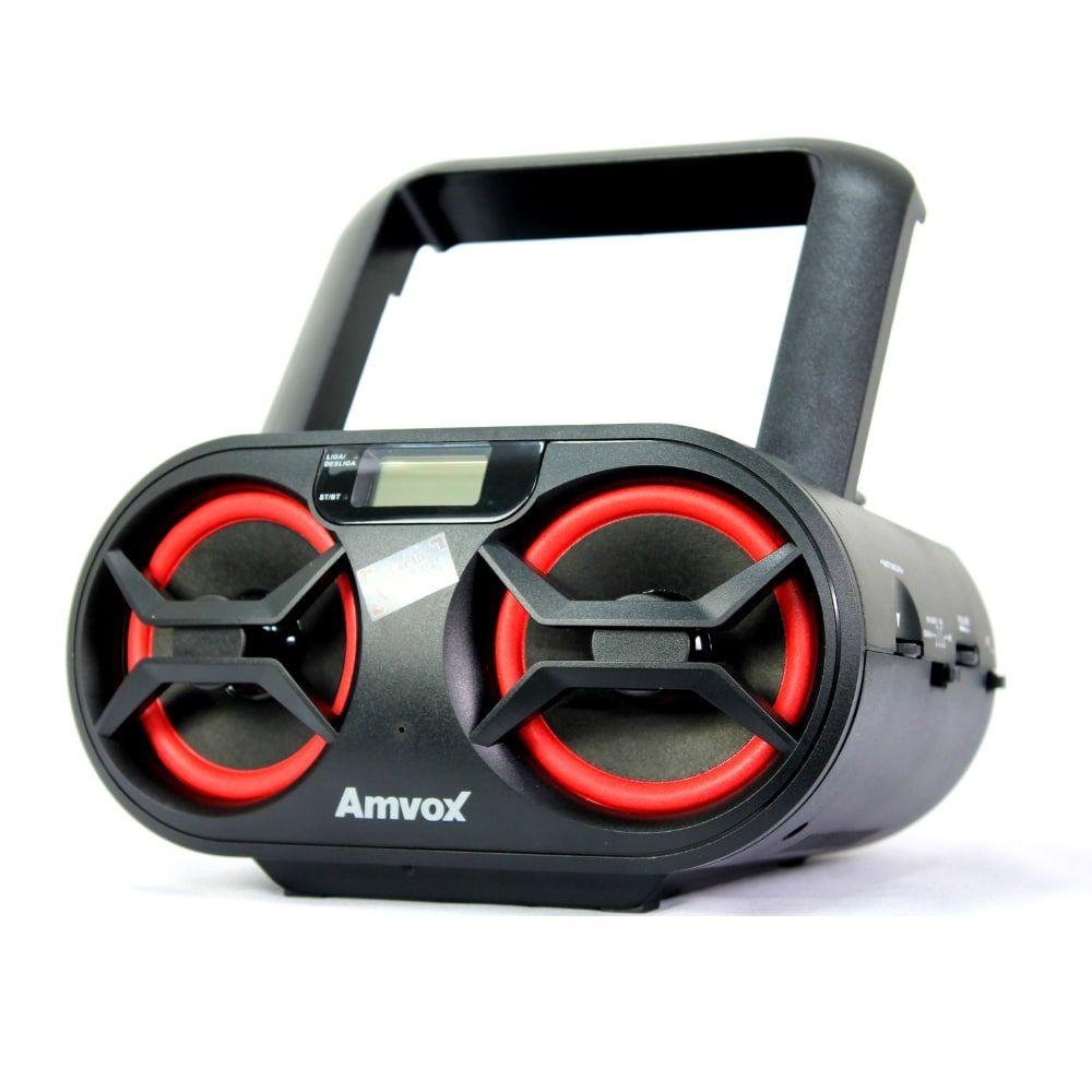 Caixa Boombox Portátil Amvox 595BT Recarregavel 15w Bluetooth