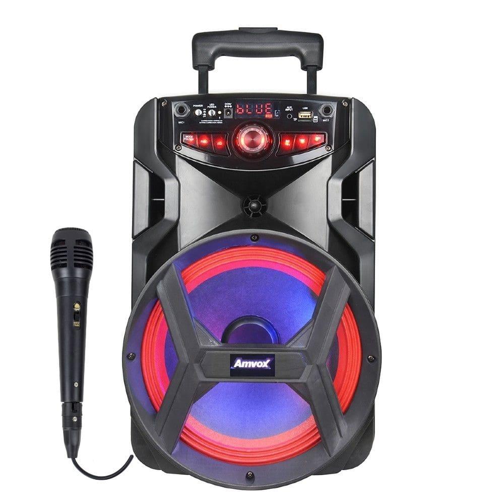 Caixa de som Amplifica Amvox ACA 250 Groove - 01 Microfone