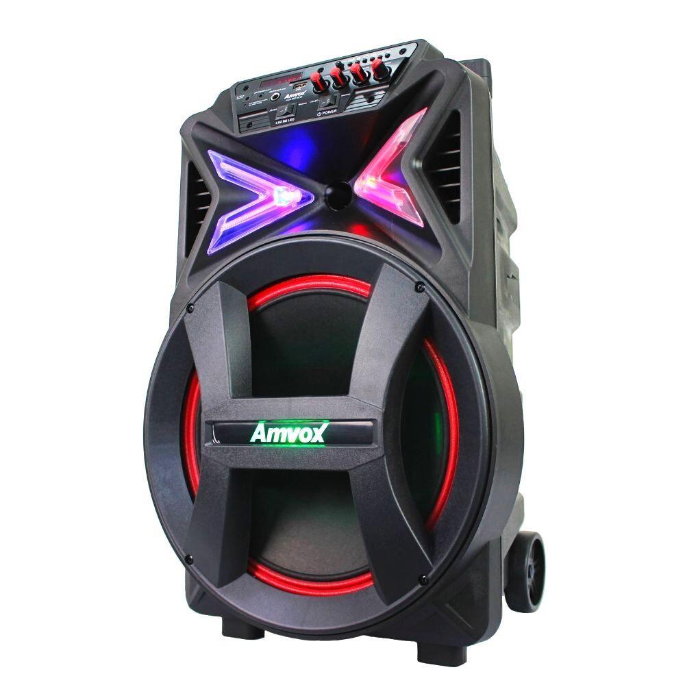 Caixa de som Amplifica Amvox ACA 400 Strondo 400w Bateria