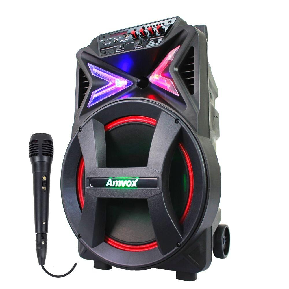 Caixa de som Amplifica Amvox ACA 400 Strondo 400w Microfone
