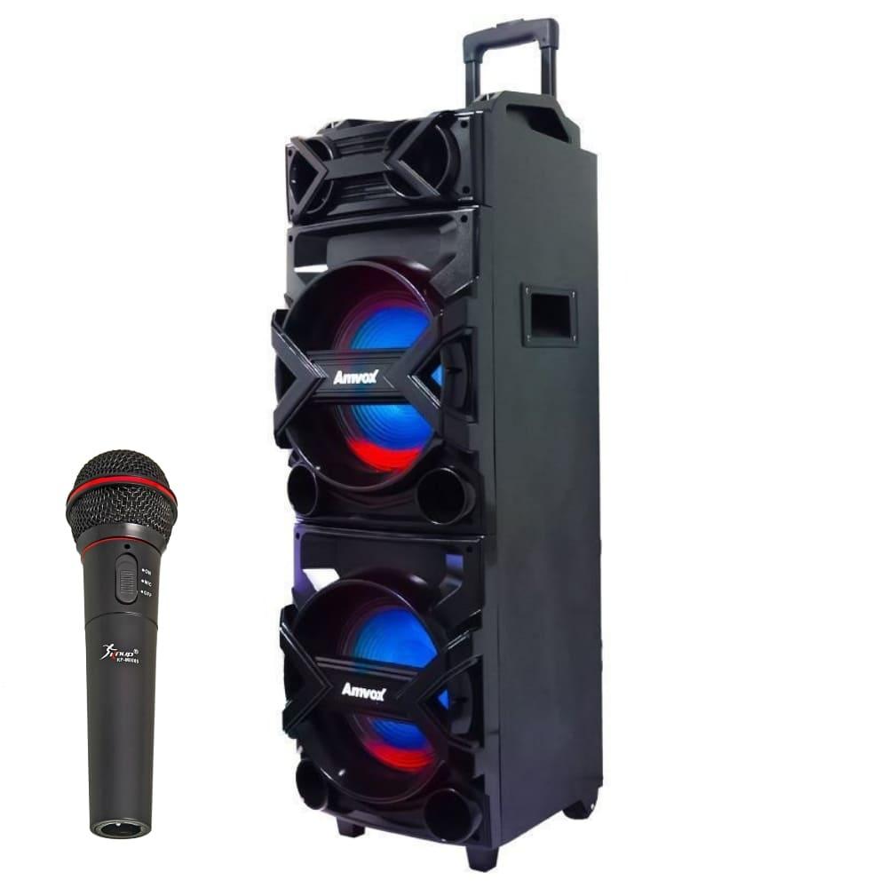 Caixa de Som Amplificada Amvox ACA 750 - 750w c/ Microfone