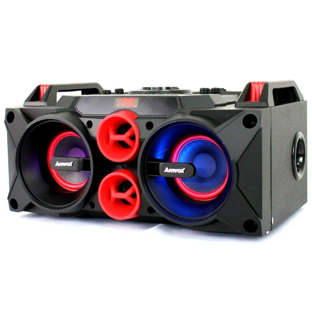 Caixa de som Amplificada Amvox  Aca 768 Led Bluetooth 150w