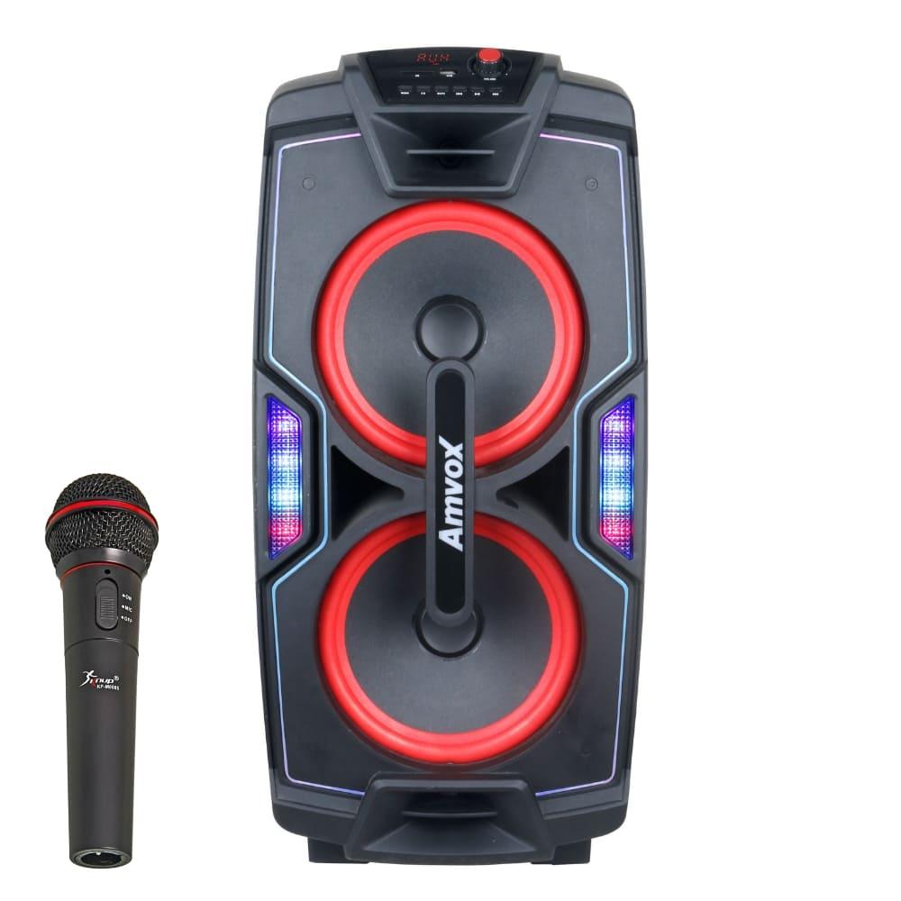 Caixa de Som Amplificada Amvox ACA 850 Festa 750W Microfone