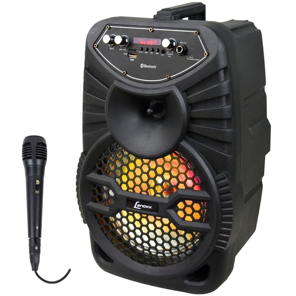 Caixa de Som Amplificada Lenoxx CA100 - 120W Microfone Com Fio