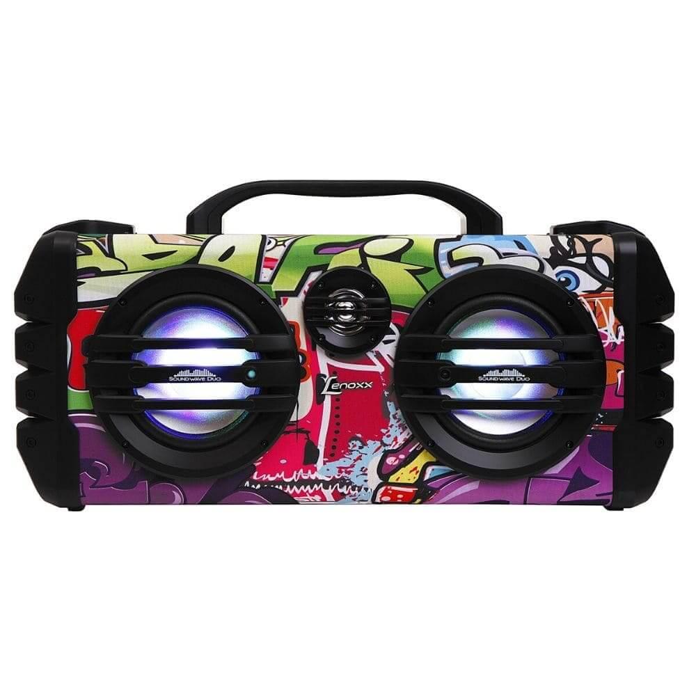 Caixa de Som Amplificada Lenoxx Sound Wave CA445 Bluetooth, Rádio FM, Micro SD, USB, Função Karaokê, 250W