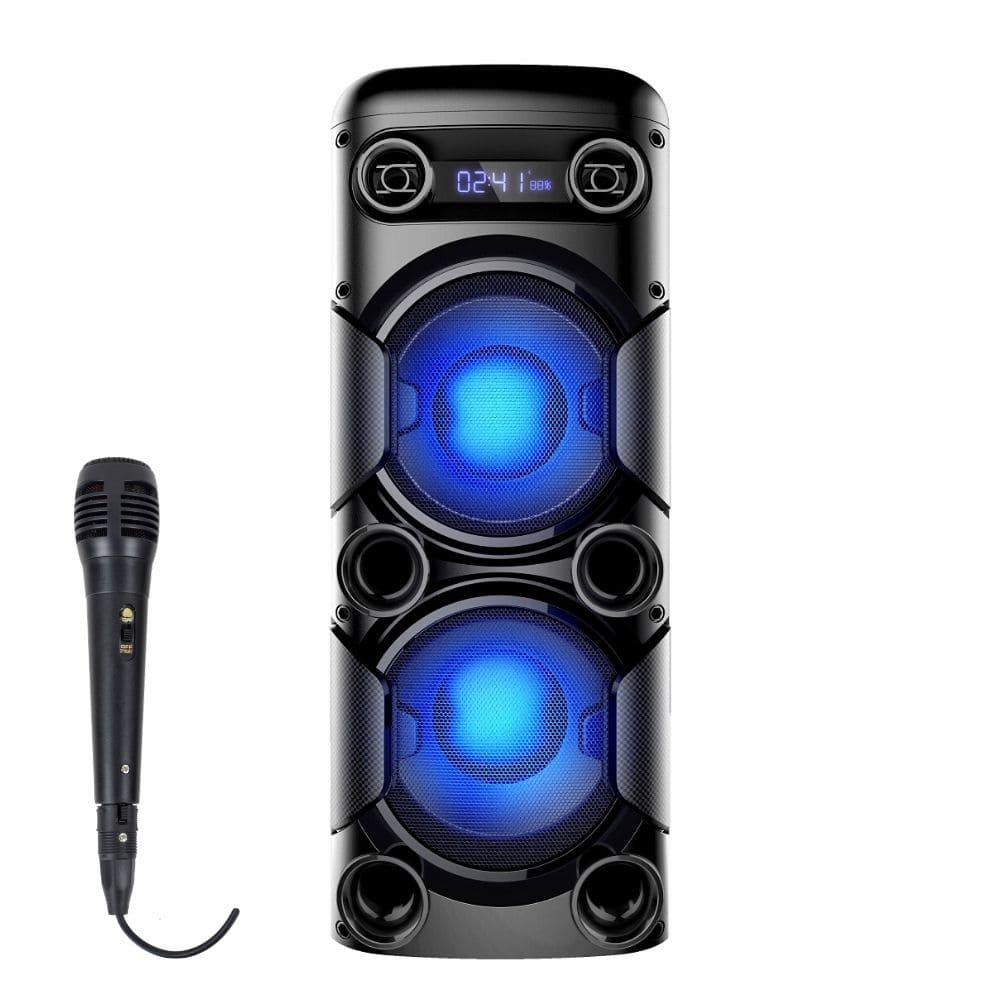 Caixa de Som Amplificada Multilaser Mini Torre SP380 - 900W Microfone Com Fio