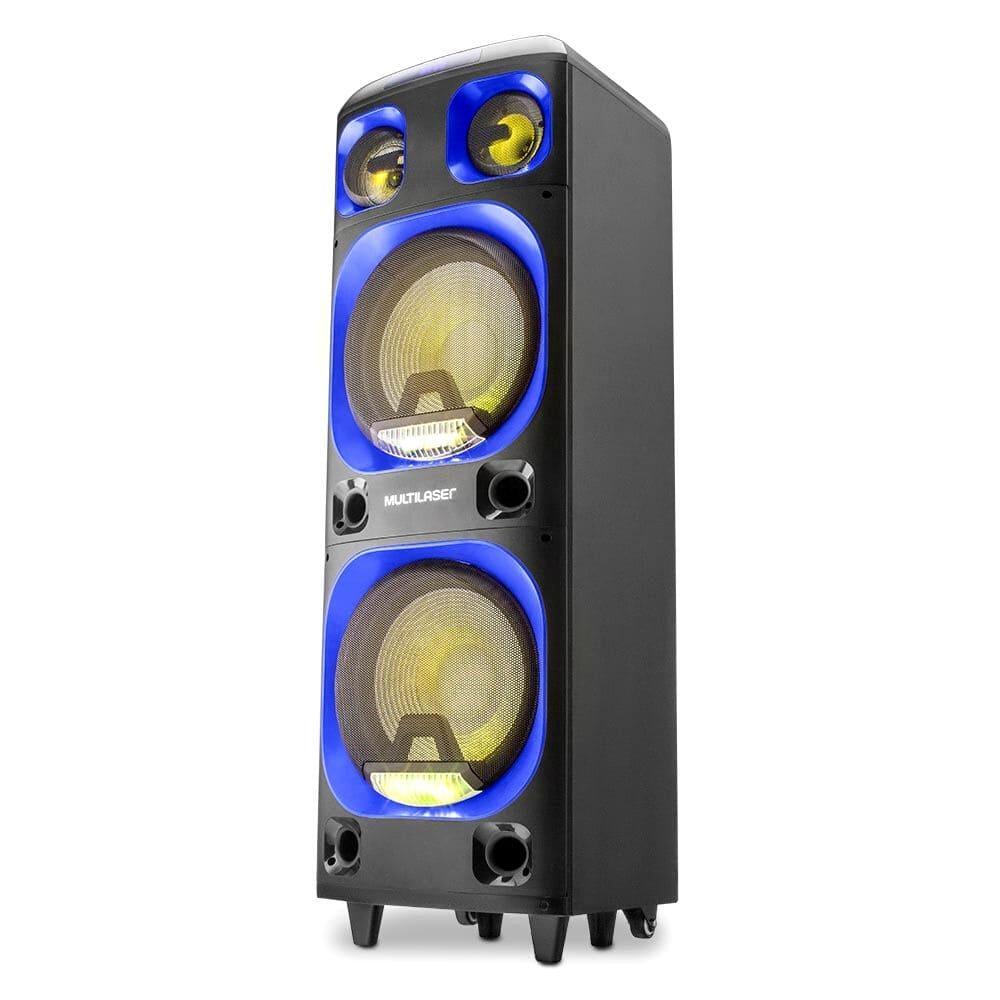 Caixa de Som Amplificada Multilaser SP 343 - 2000W Bleutooth Extra Potente