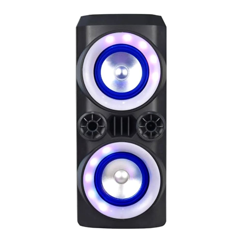 Caixa de Som Amplificada Multilaser Mini Torre SP379 Neon X - A Mini Torre Portátil