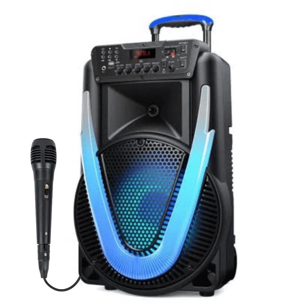 Caixa de Som Amplificada Multilaser Sunny II 500w Microfone SP395