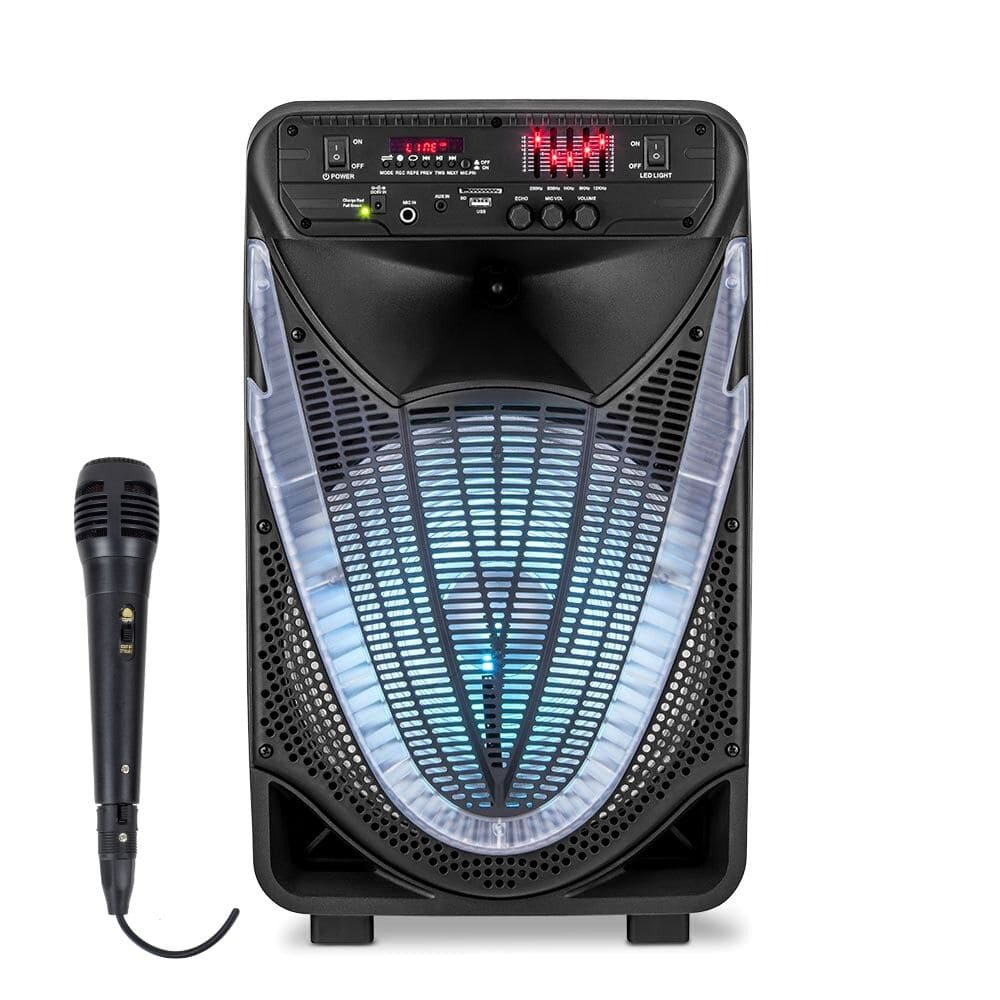 Caixa de Som Amplificada Multilaser Sunny SP340 - 400W Microfone Com Fio