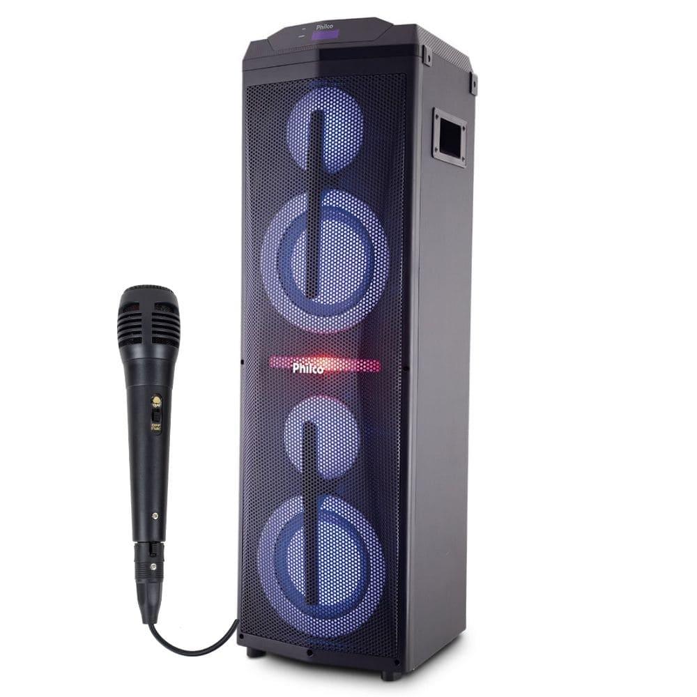 Caixa de Som Amplificada Philco PCX17000 Potente Bluetooth com Microfone