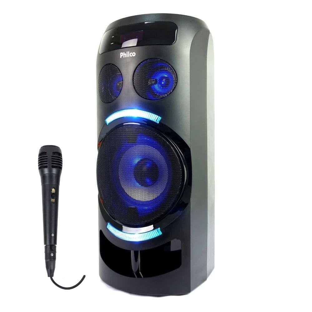 Caixa de Som Amplificada Philco PCX3500 150w Bluetooth, USB Charge, Bateria Interna, Microfone com fio