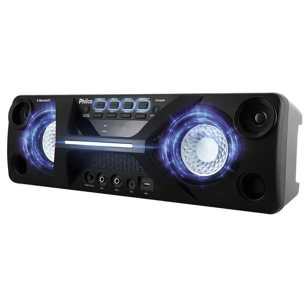 Caixa de Som Amplificada Philco PCX4000 130w Bluetooth USB Bateria Interna