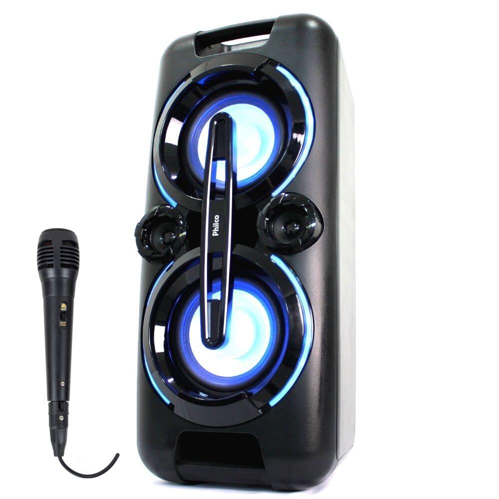Caixa de Som Amplificada Philco PCX 5001N 250w Microfone