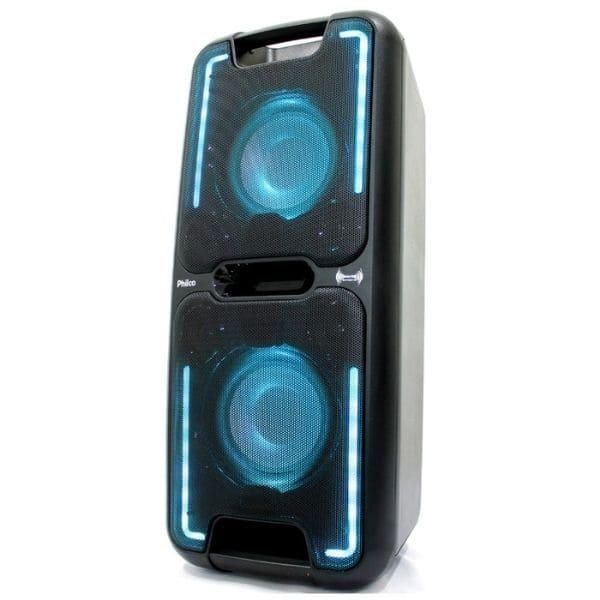 Caixa de som Amplificada Philco PCX5501N Effects 250w Bateria