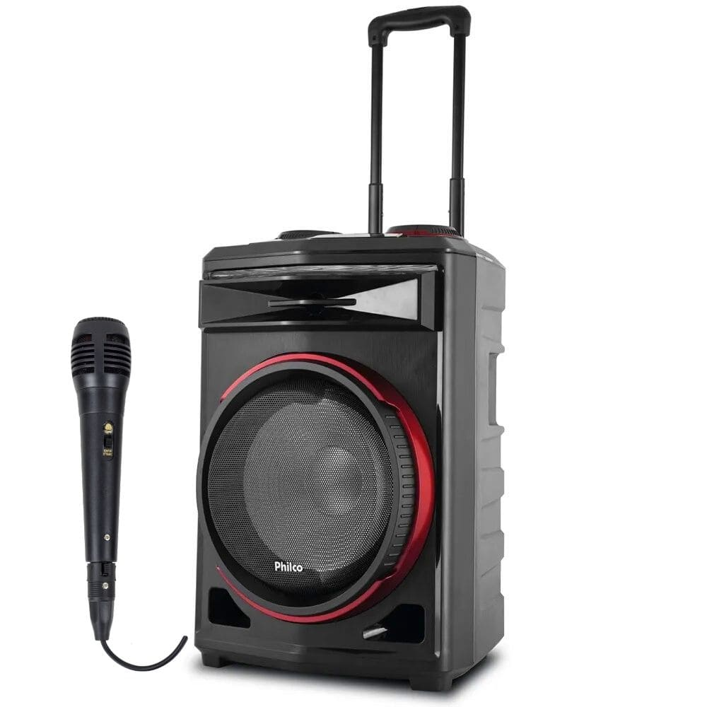 Caixa de Som Amplificada Philco PCX6500 - 380w RMS C/Microfone