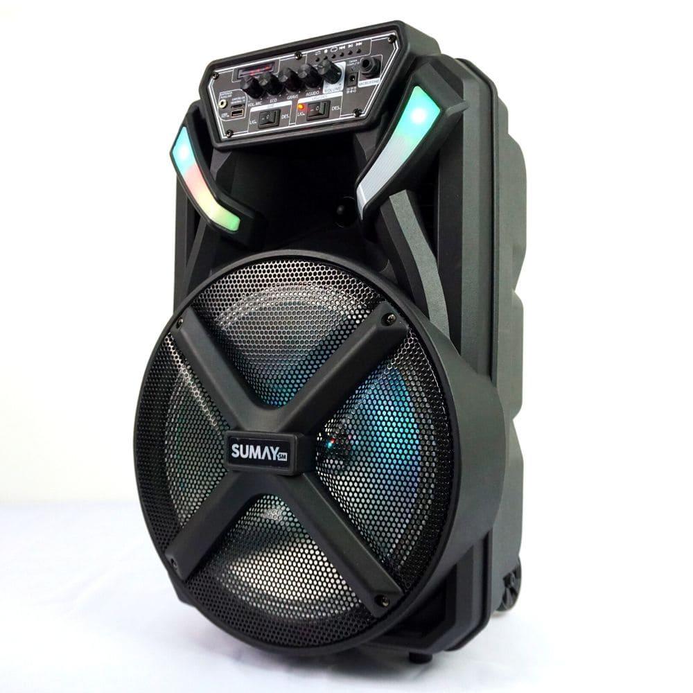 Caixa de Som Amplificada Sumay XPrime 600BT - 300w Bluetooth, Bateria Interna, Microfone com Fio