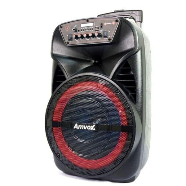 Caixa de Som Amvox ACA 380 VIPER Bluetooth LEDS Bateria 380w rms