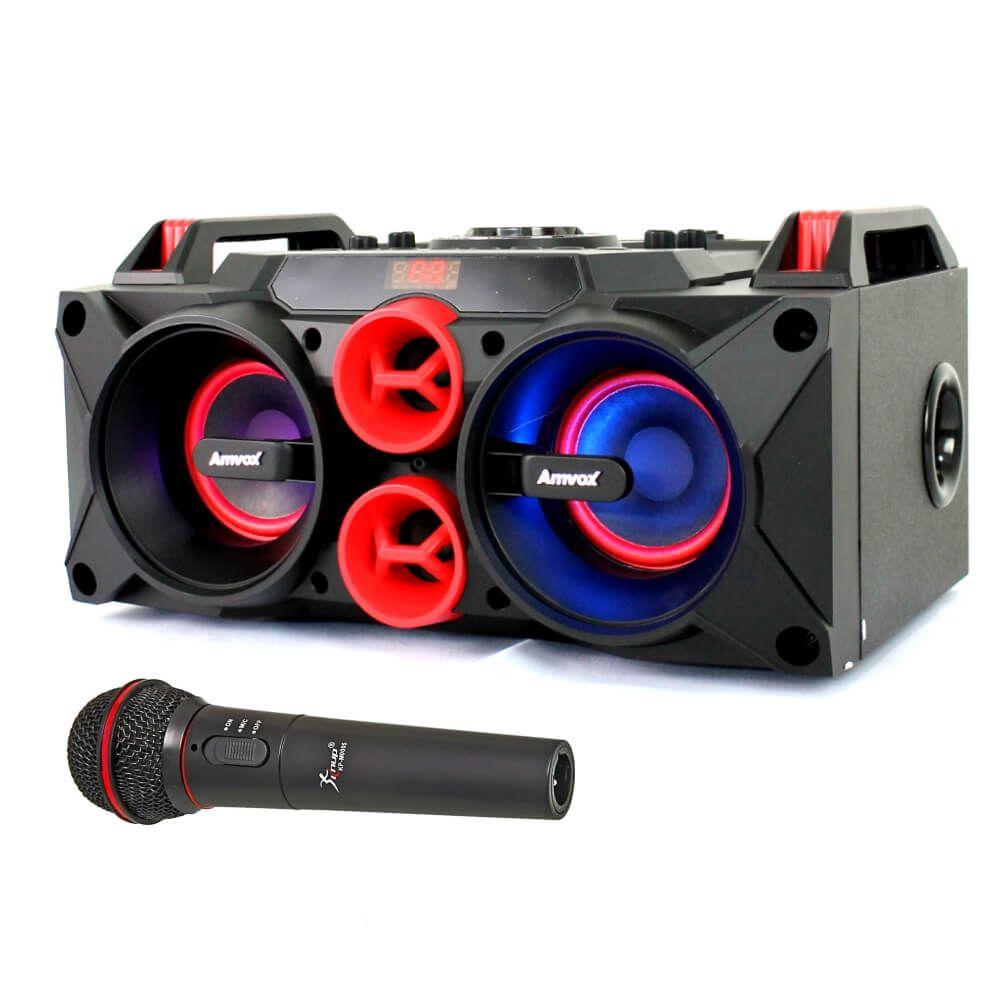Caixa de Som Amvox ACA 768 - Amplificada Bateria interna USB SD FM