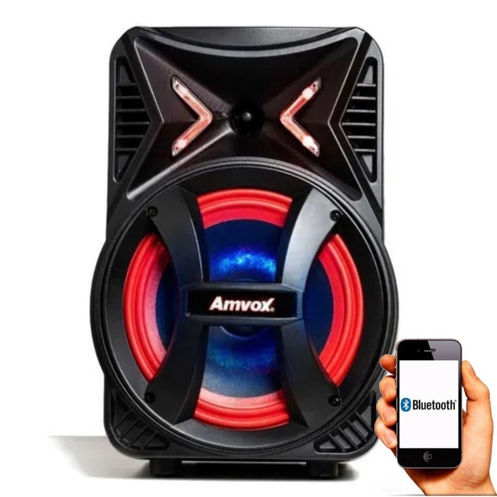Caixa de som Bluetooth Pequena Amvox ACA 189 180w RMS Potente
