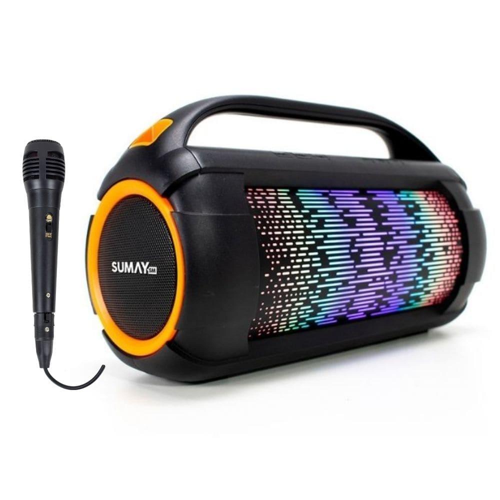 Caixa de Som Bluetooth Sumay FIREBOX SMCSP1305 60w Microfone