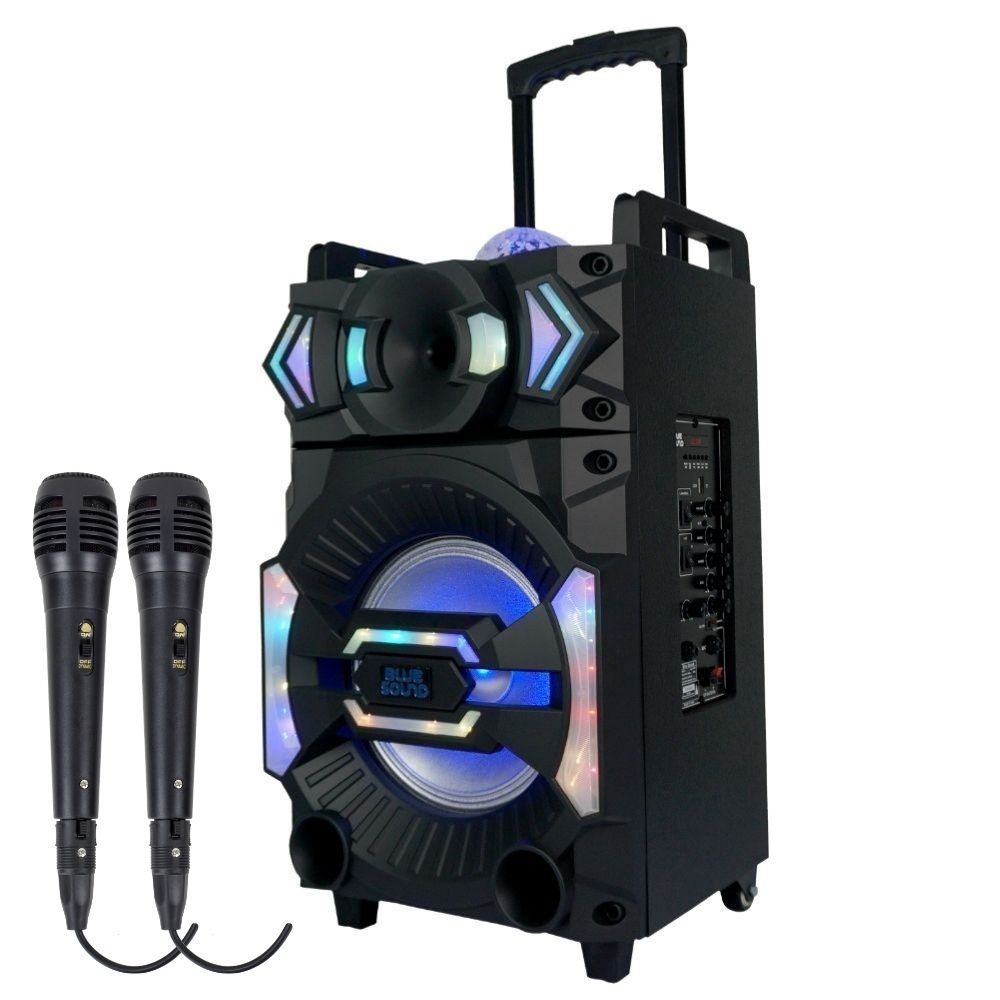 Caixa de som Bluetooth Vegas 4000 BlueSound 400w RMS 02 Micr