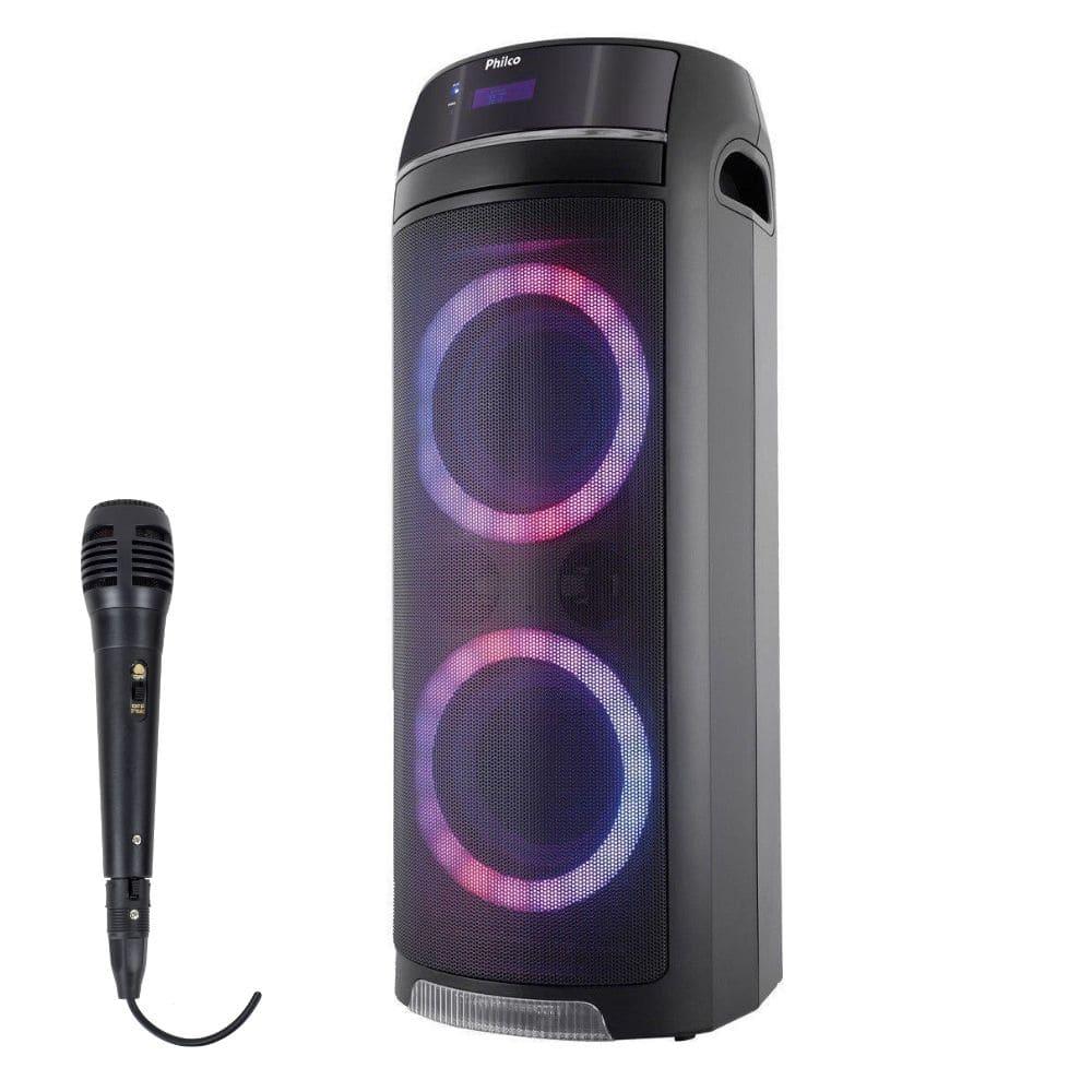 Caixa de Som Philco PCX 7500 Bluetooth 400W - USB 1 Microfone