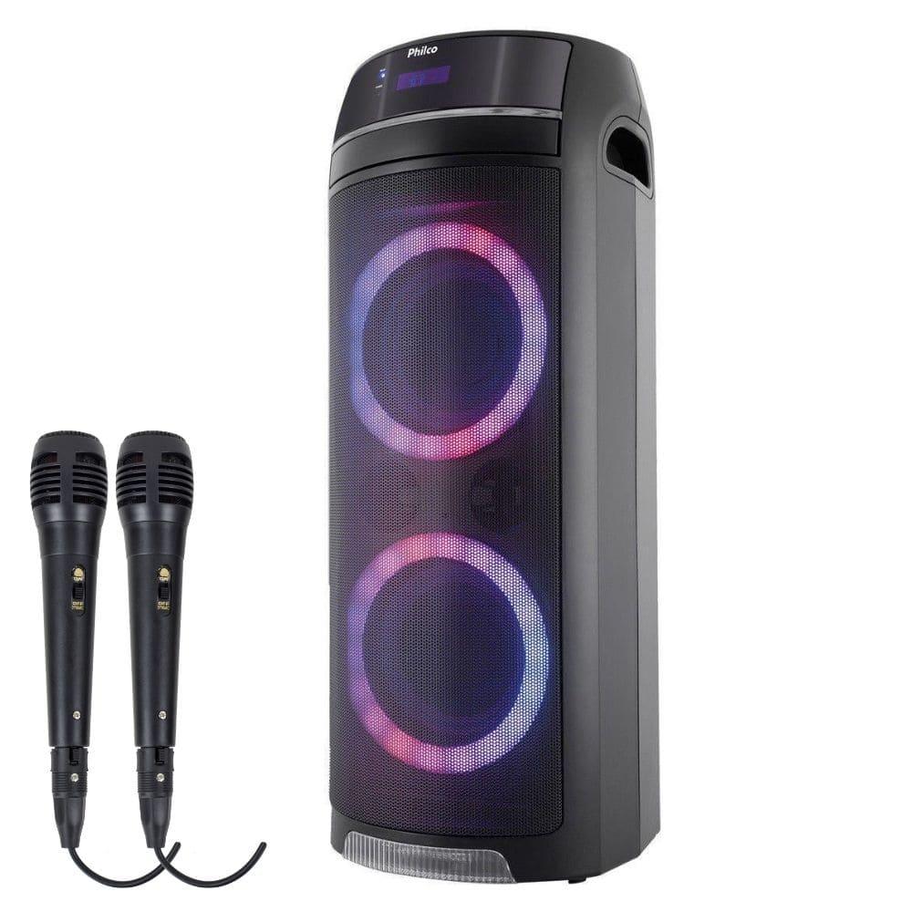 Caixa de Som Philco PCX7500 Bluetooth 400W - USB 2 Microfone