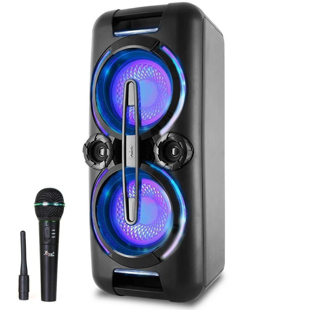 Caixa de Som Philco PCX 8000 - 500w Microfone Sem Fio