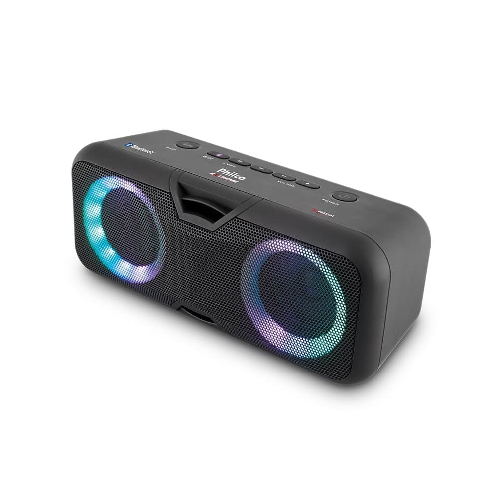 Caixa de som Philco PSB55BT Extreme Bluetooth LED Ex Bass