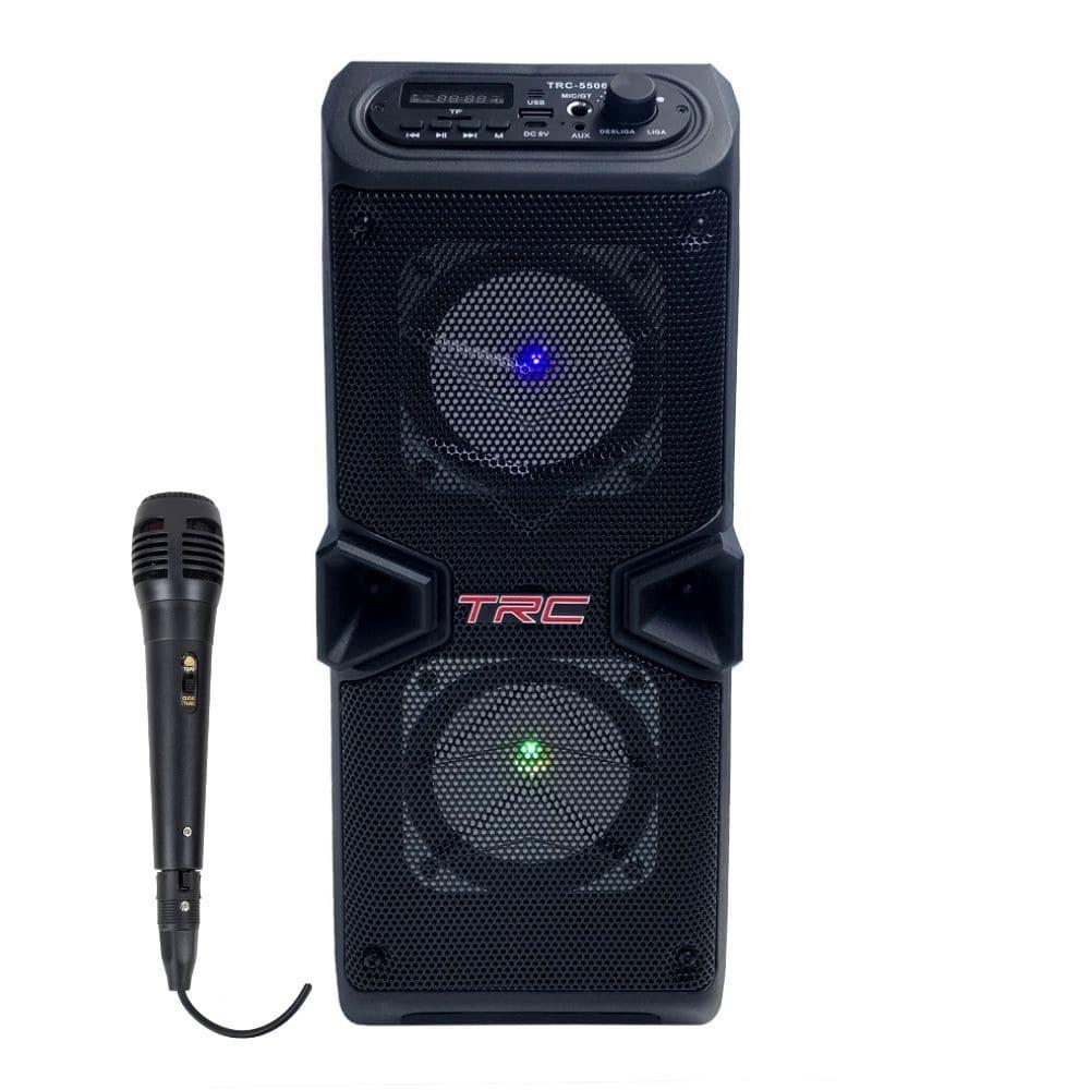 Caixa de som Portátil Bluetooth TRC 5506 - 60w RMS Microfone