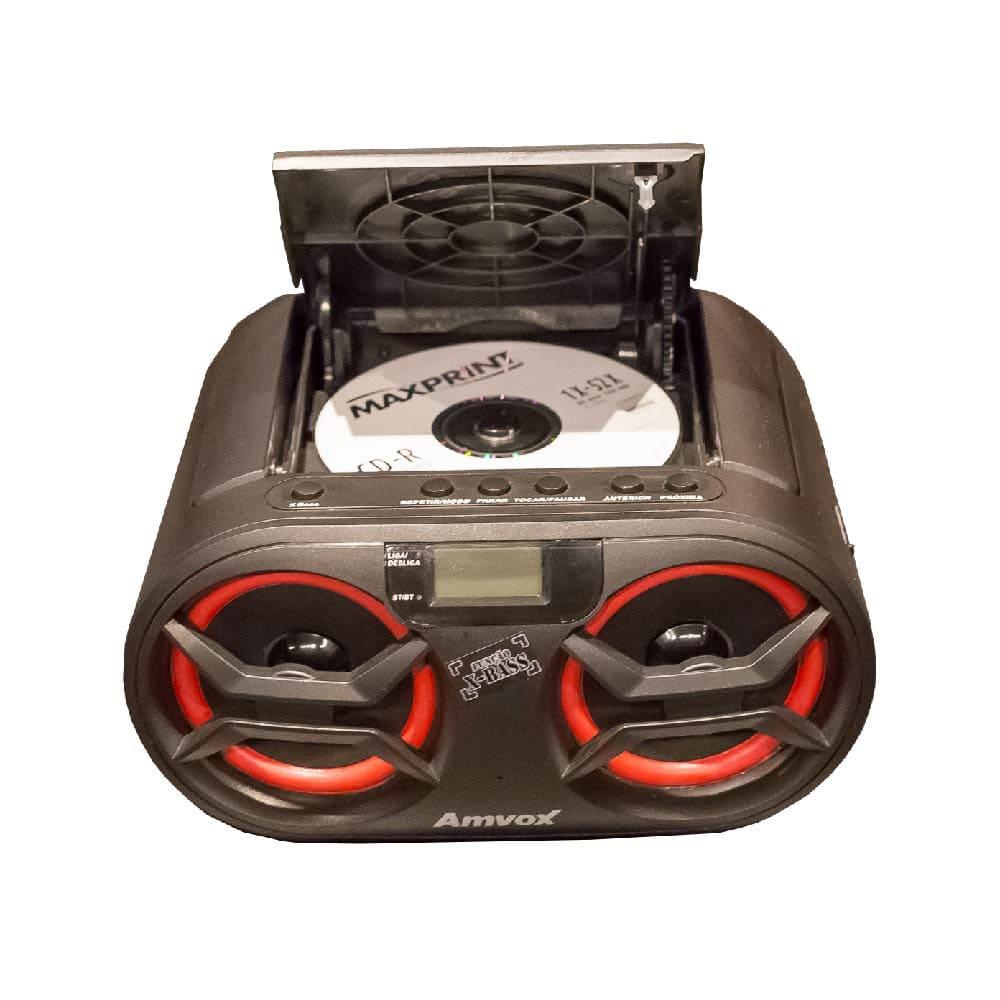 Caixa de Som Portátil Boombox ACA 595 AMVOX BLUETOOTH CD