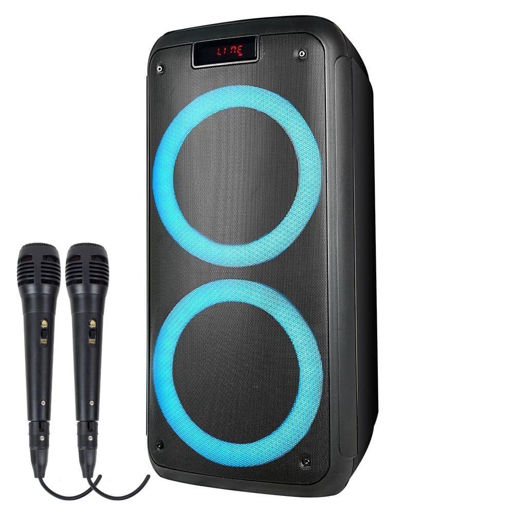 Caixa de Som Pulsebox Multilaser SP359 - 1000w 02 Microfone