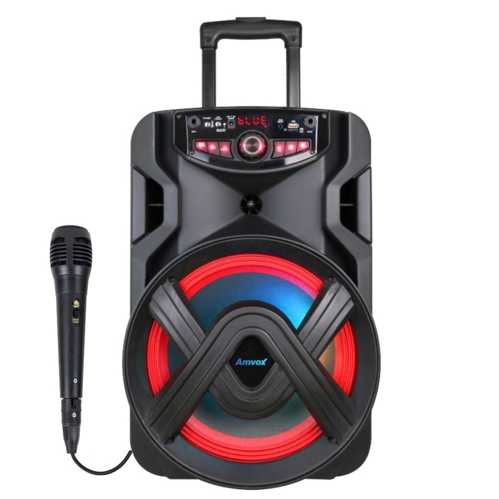 Caixa Som Bluetooth Amvox ACA 401 TSUNAMI - 400w Microfone