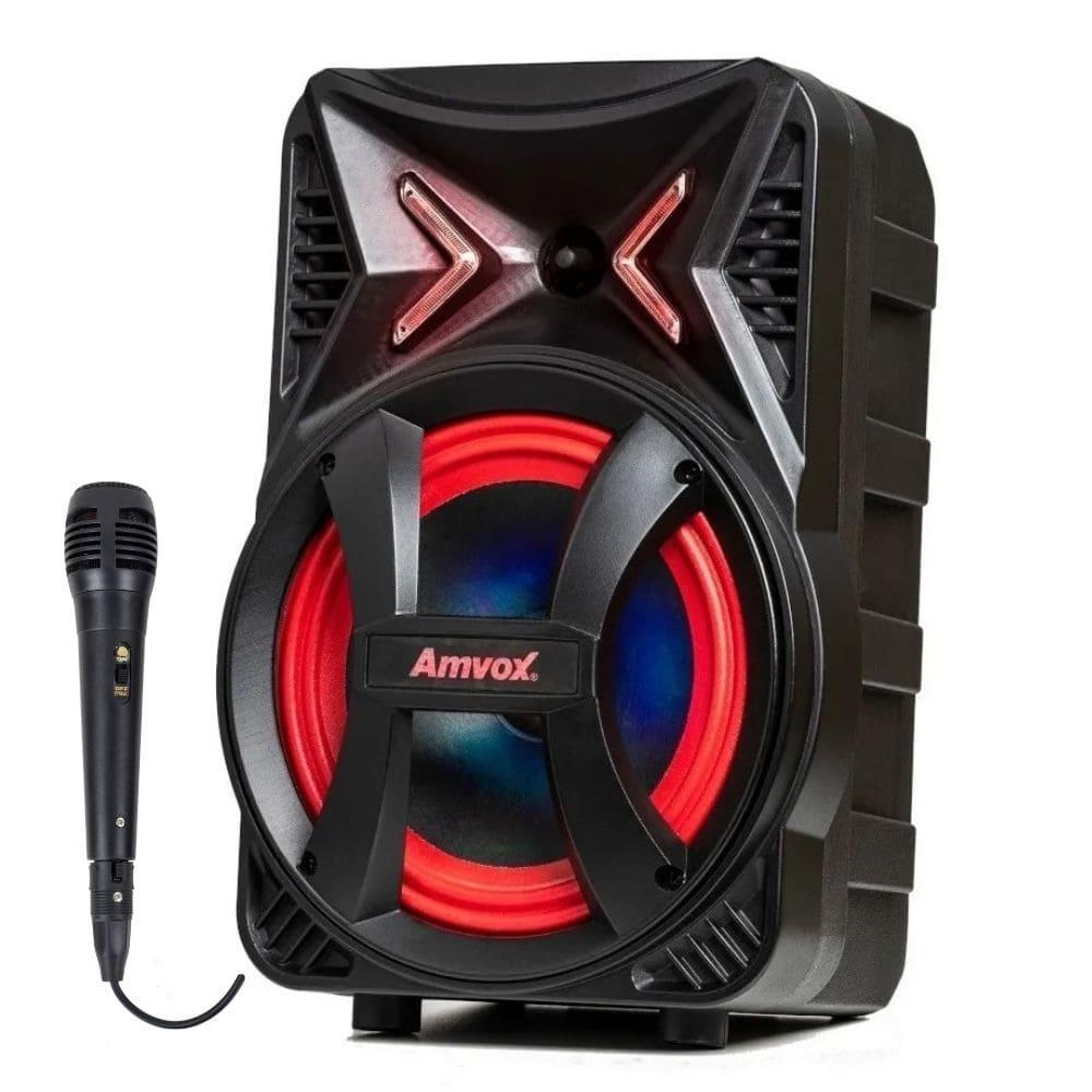 Caixinha de som com microfone Amvox ACA 189 180w RMS Potente